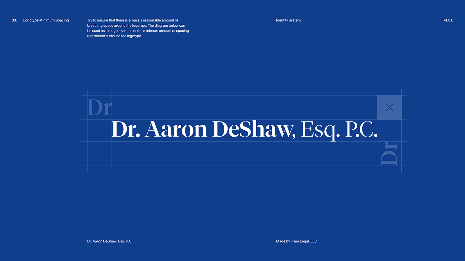 Identity System for Dr. Aaron DeShaw